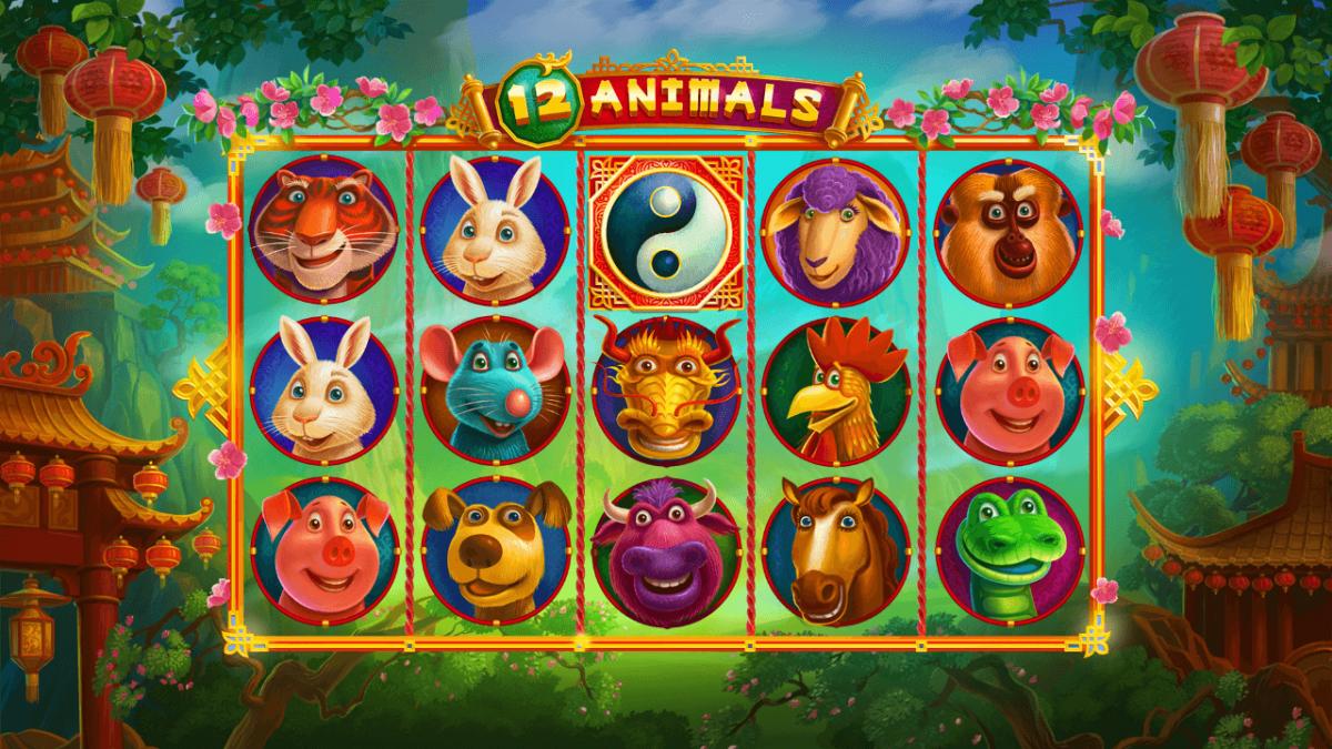 12 animal animated slot